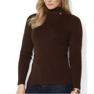 Lauren Ralph Lauren Ribbed Turtleneck Sweater M